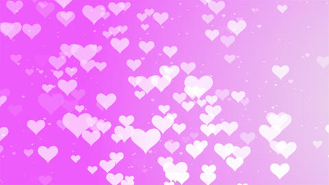 Valentines Day romantic Pink big hearts floating motion background GIF