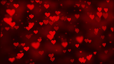 Abstract Up Heart Flying Pink hearts rise on a dark motion background Animation