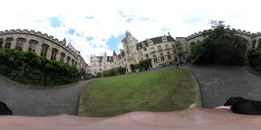 360 VR of the beautiful Balliol College Footage