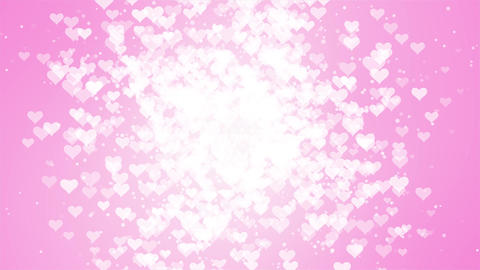 White glitter slow motion Moving Particles seamless loop pink background Animation
