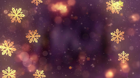 Beautiful Christmas snowflake on a red holiday abstract background Seamless loop Animation