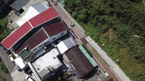 DJI MAVIC 4K Aerial Drone Video Taiwan Xinbei pingxi old street Sky Lantern Image