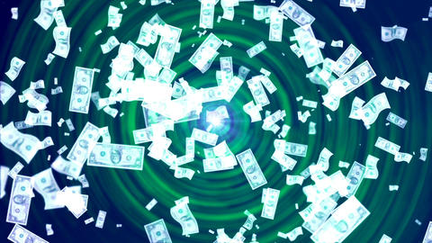 Money Rain. Abstract Loopable Background Animation