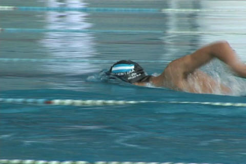 Swimmer racing Footage