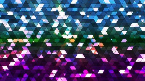 Broadcast Twinkling Squared Hi-Tech Triangles, Multi Color, Abstract, Loopable, Animation