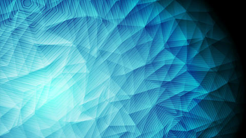 Abstract blue polygonal tech video animation Animation