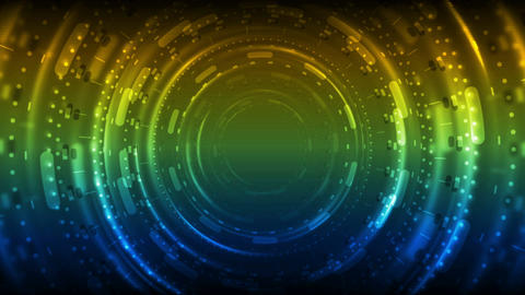 Colorful neon glowing tunnel technology video animation Animation