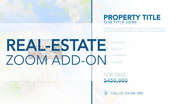 Real-Estate Zoom Add-On - Apple Motion and Final Cut Pro X Template Plantilla de Apple Motion