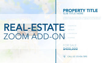 Real-Estate Zoom Add-On - After Effects Template After Effectsテンプレート