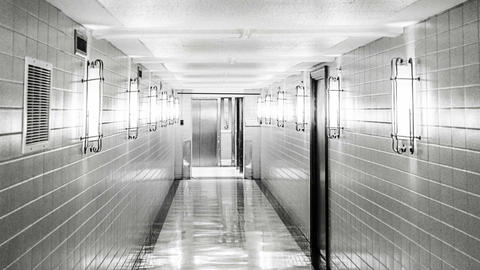 Scary Hospital Corridor, Abstract Background Animation