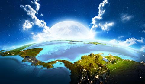 Central America. 3D rendering Fotografía
