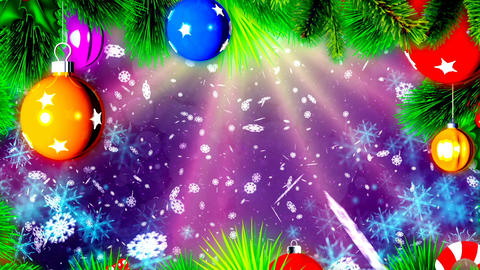 Christmas loopable background with nice balls Animation