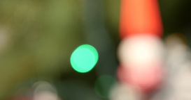 Christmas decoration in bokeh glittering lamp with tree Footage