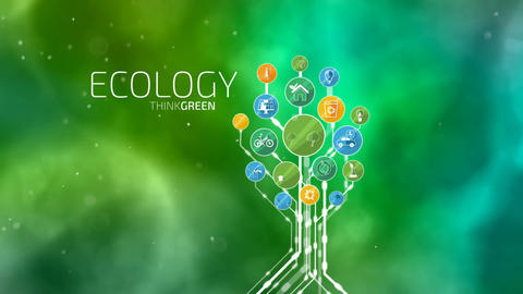 Ecological Icons Tree After Effects Template