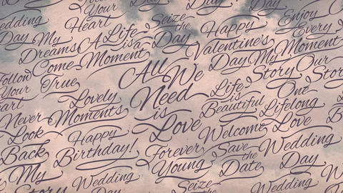 Romantic Calligraphic Titles Background Animation