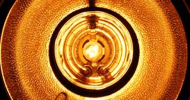 Spooky, flickering light lamp Footage