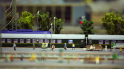 miniature train station Footage