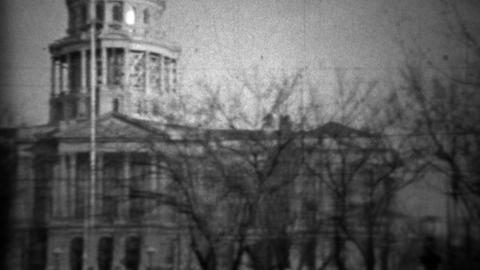 1933: State capital municipal building dome tower remodeling Footage