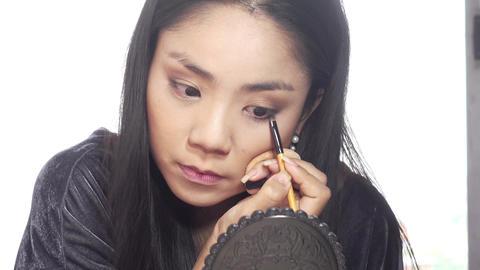 Eye makeup woman Footage
