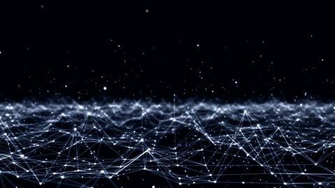 Futuristic Technology Molecular Abstract Plexus Background Animation