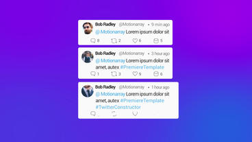 Twitter Constructor Premiere Pro Template