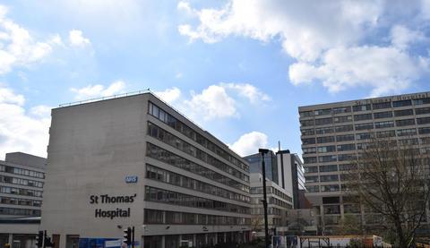St. Thomas hospital in London, UK Fotografía