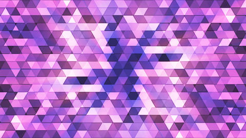 Broadcast Twinkling Polygon Hi-Tech Triangles, Purple, Abstract, Loopable, 4K CG動画素材