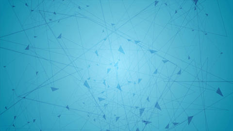 Blue polygon communication tech web video animation Animation
