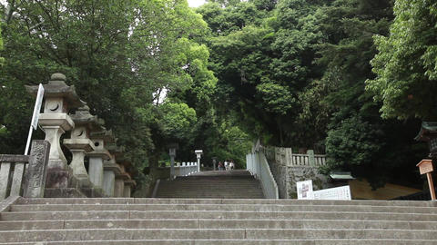 long stairs at a shrine Live Action