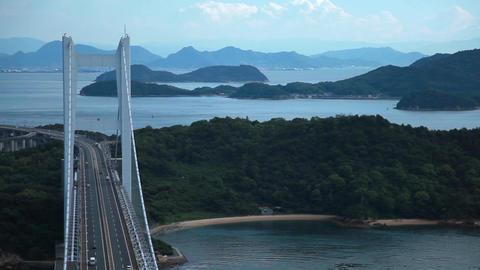瀬戸大橋と島 動画素材, ムービー映像素材
