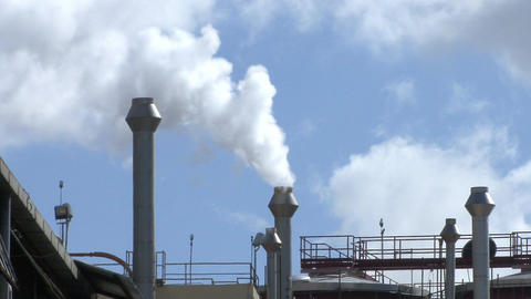 Industry Pollution Footage