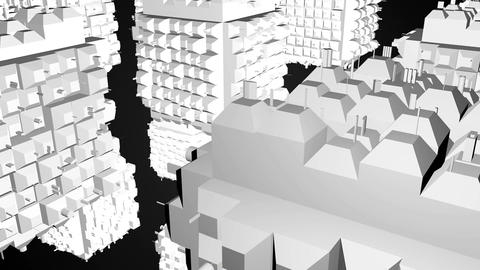 Abstract greeble cubes surface on black background. 3d rendering Image
