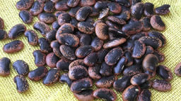 The large color beans. Proper nutrition. Vitamins. Healthy food Footage