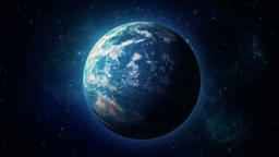 Planet Earth - Earth Globe - 3D zoom out to earth in space CG動画素材