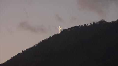 Cross in mountain (time lapse) Footage