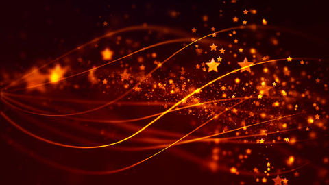 Abstract Loopable Background with nice golden flying stars Animation