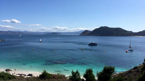 Seashore at Cies islands Image