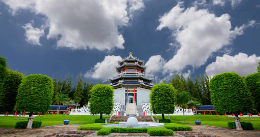 Chinese architecture garden Image