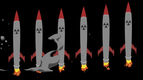 Firing Nuclear Missiles in Alpha Channel Image