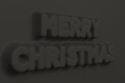 Black Merry Christmas words bas-relief フォト