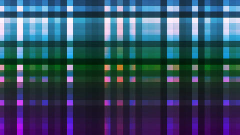 Broadcast Twinkling Hi-Tech Strips, Multi Color, Abstract, Loopable, 4K Animation