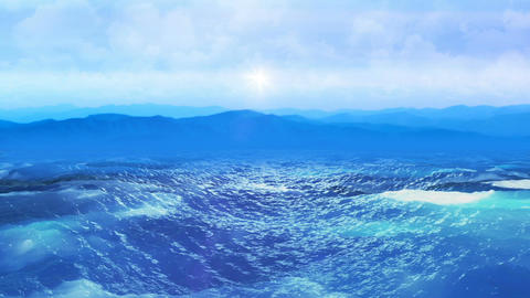 Realistic Ocean, Abstract Loopable Background Animation