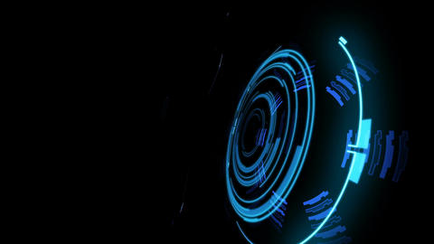 Beautiful Abstract 3D Construction Appearing with Glow. Numbers and Code Animation