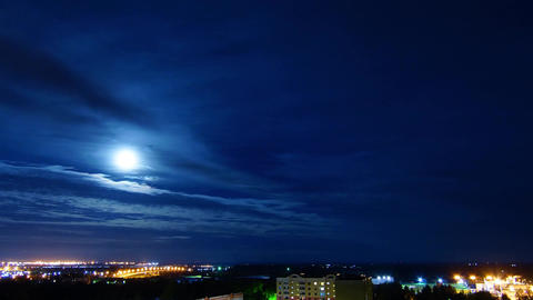 Night Sky at Full Moon ビデオ