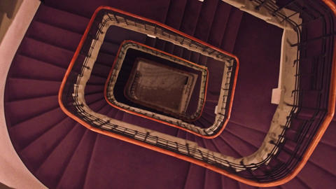 Old building staircase view from above Footage