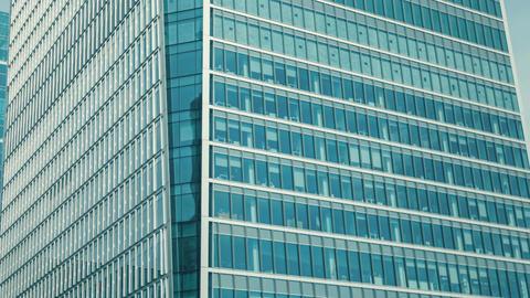 Skyscraper glass facade Footage