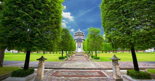 Chinese architecture garden in Thailand Archivo
