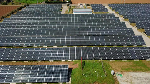 solar panels from above Filmmaterial