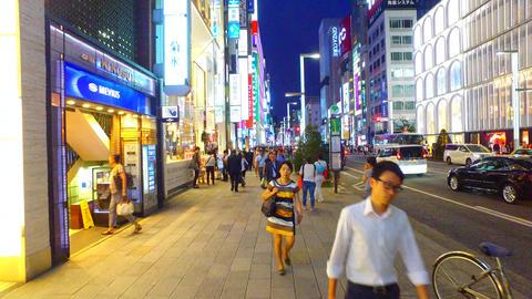 Ginza shopping street Tokyo Japan Footage