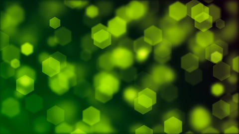 Abstract background of blurry green hexagonal bokeh Animation